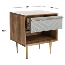 Load image into Gallery viewer, Safavieh Leni Natural/Brass Nightstand(1765RR)