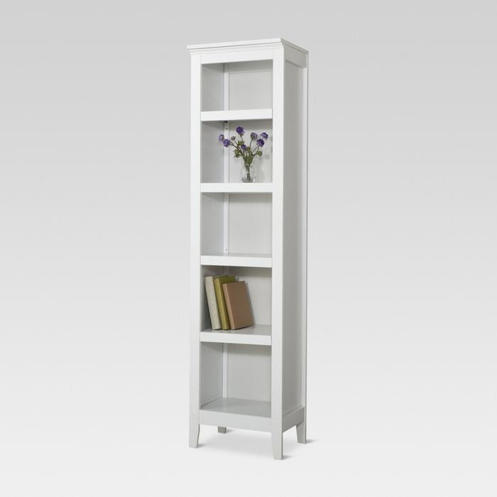 "Carson 72"" Narrow Bookcase White(523)"