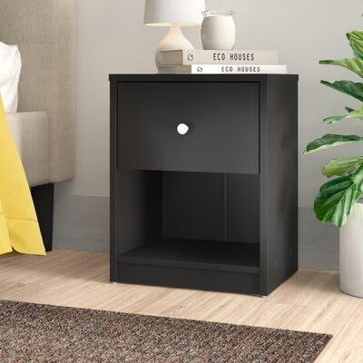 Guilford 1 Drawer Nightstand-Black #27CE