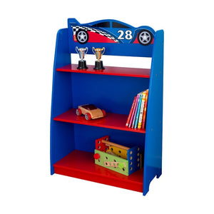 "Racecar 35.75"" Bookcase Blue/Red(1600)"