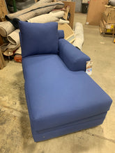 Load image into Gallery viewer, Klaussner Home furnishings right arm facing chaise lounge Blue *AS IS*