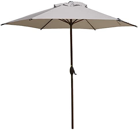 East End Patio 9' Market Umbrella Gray/Bronze(1966RR)