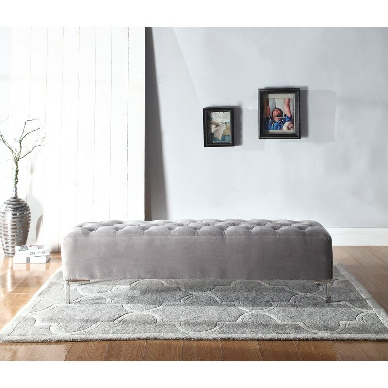 Lansford Upholstered Bench-Grey #25CE