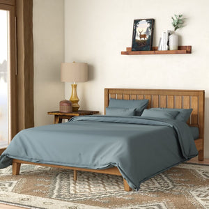 Morgan Hill Platform Bed King Brown(1594)