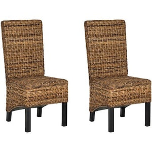Safavieh Set of 2 Pembrooke Wood Frame Seagrass Chairs(1903RR)