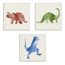 Load image into Gallery viewer, Turrell Dinosaurs Decorative Plaque (Set of 3) #142HW