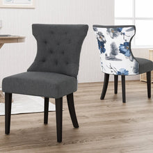 Load image into Gallery viewer, Orourke Two Tone Dining Chairs Set of 2 Gray/Floral(243)