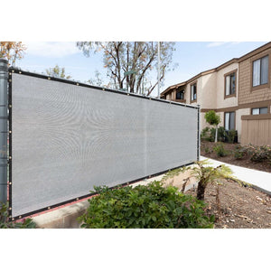 Customize 3'H x 30'L Composite Privacy Screen Gray Set of 2 Panels(1666RR)