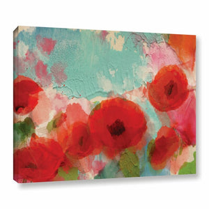 Fresh Air Poppies Painting Print on Wrapped Canvas(1569)