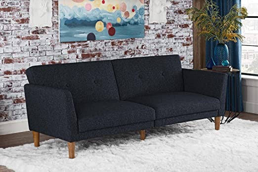 Novogratz Regal Sleeper Sofa in Blue(1637RR)