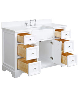 "Bathroom Vanity, Base: White, 48"", Single Sink *AS IS* #348HW"