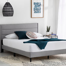 Load image into Gallery viewer, Annaalicia Upholstered Low Profile Platform Bed Twin Stone(1592)