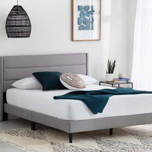 Annaalicia Upholstered Low Profile Platform Bed Twin Stone(1592)