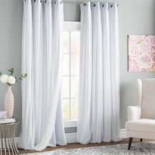 Load image into Gallery viewer, Brockham Solid Blackout Grommet Curtain Panels (Set of 2)#140HW