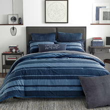Load image into Gallery viewer, Longpoint Reversible 3pc Comforter Set Full/Queen Blue Multi(1896RR)