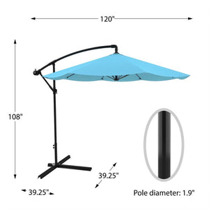 Vassalboro 10ft Cantilever Umbrella Blue(881)