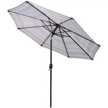 Load image into Gallery viewer, Annika 9' Market Umbrella Gray/Black/ White #265HW