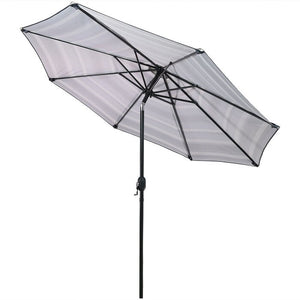 Annika 9' Market Umbrella Gray/Black/ White #265HW