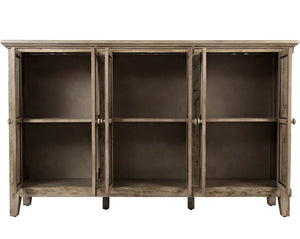 "Eau Claire 70"" Wide Acacia Wood Sideboard - Weathered Gray"