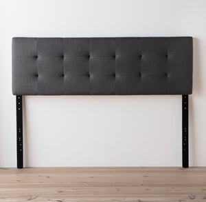Cy Upholstered Panel Headboard Queen Color Charcoal #27HW