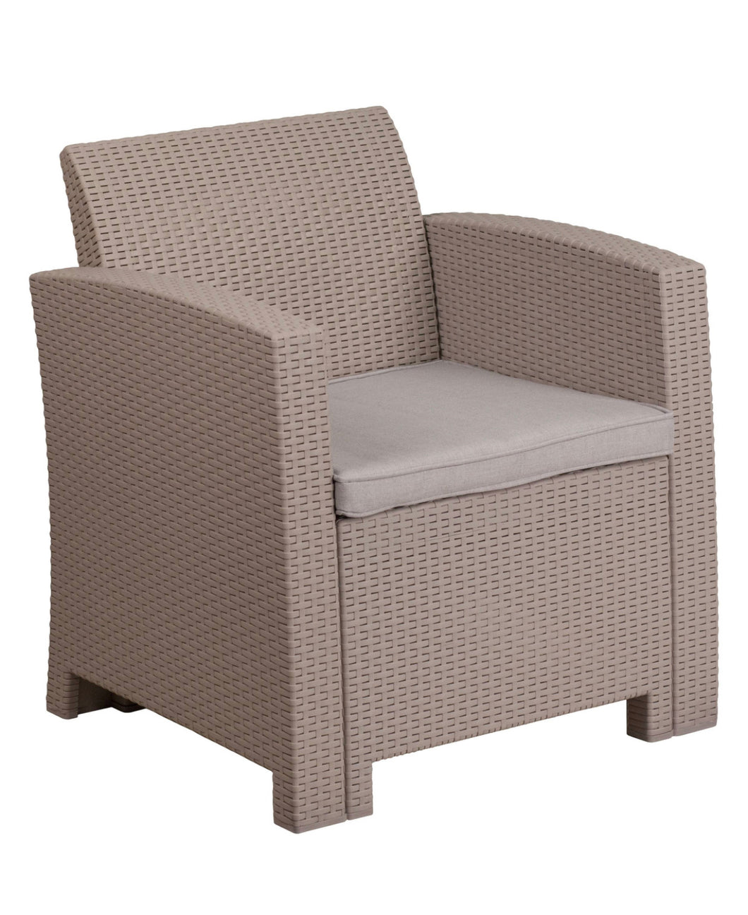 SET OF 2 Outdoor Resin Rattan Chairs  (1559-2 boxes)