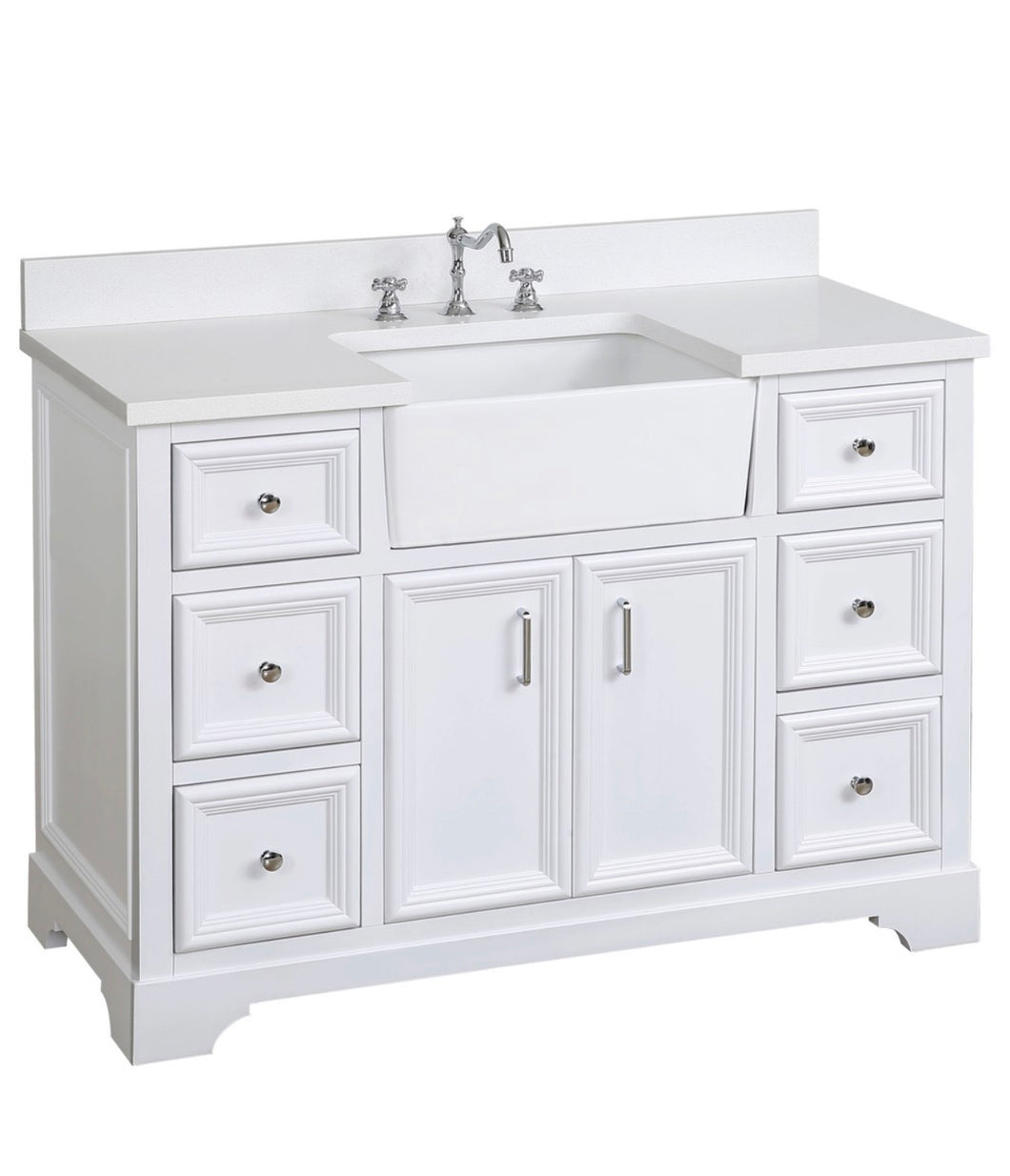 Bathroom Vanity, Base: White, 48