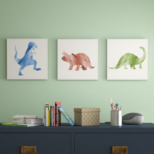 Turrell Dinosaurs Decorative Plaque (Set of 3) #142HW