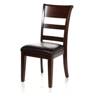 Fernson Upholstered Dining Chair Set of 2 Dark Cherry(1862RR)