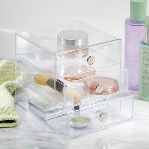 Clear Coby 3 Drawer Desk Organizer Set Of 2 #188HW