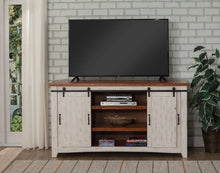 Load image into Gallery viewer, Martin Svensson Taos White Distressed Pine TV Stand #316HW