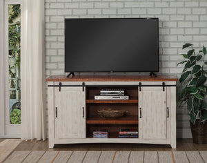 Martin Svensson Taos White Distressed Pine TV Stand #316HW