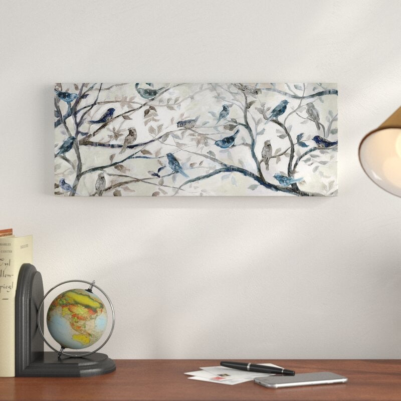 'Morning Chorus' - Wrapped Canvas Painting Print 20 x 50(1646RR)