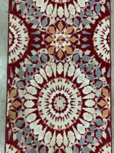 Load image into Gallery viewer, Threshold Red Kaleidoscope 2' x 7' Runner Rug (1754)