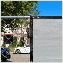 Load image into Gallery viewer, Customize 3'H x 30'L Composite Privacy Screen Gray Set of 2 Panels(1666RR)