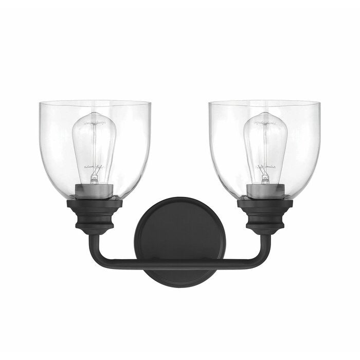 Alesandra 2 Light Dimmable Vanity Light Black(326)
