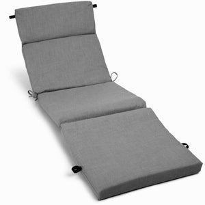 Indoor/Outdoor Chaise Lounge Cushion Single Gray(1963RR)