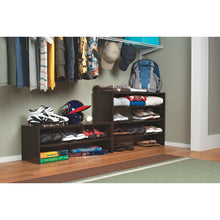 Load image into Gallery viewer, 6 Pair Stackable Shoe Rack Espresso #288HW