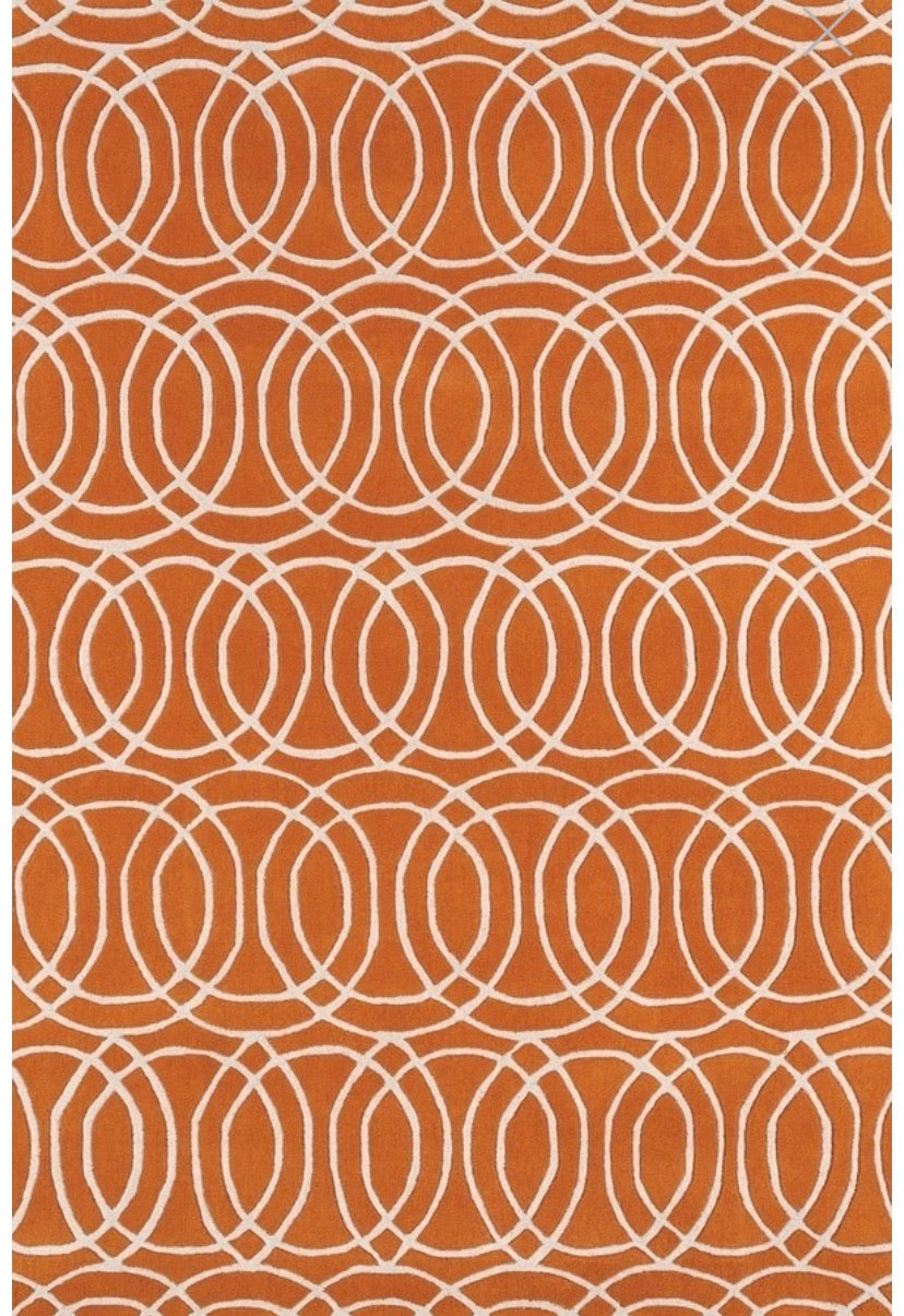 "Revolution Orange 9'6"" x 13' Area Rug (1760)"