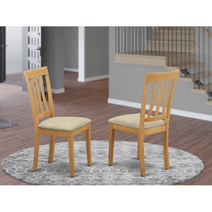Artin Slat Back Side Chair (Set of 2) Color Oak #85HW