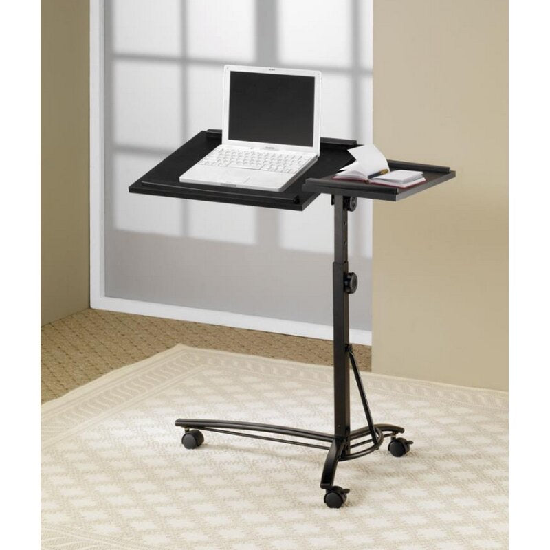 Mae Adjustable Laptop Cart Black (258)