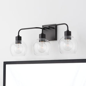Rives 3-Light Dimmable Vanity Light Matte Black #281HW