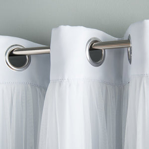 Brockham Solid Blackout Grommet Curtain Panels (Set of 2)#140HW