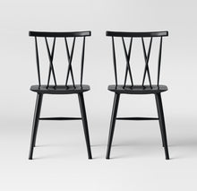 Load image into Gallery viewer, Set of 2 Becket Metal X Back Chair  #9189