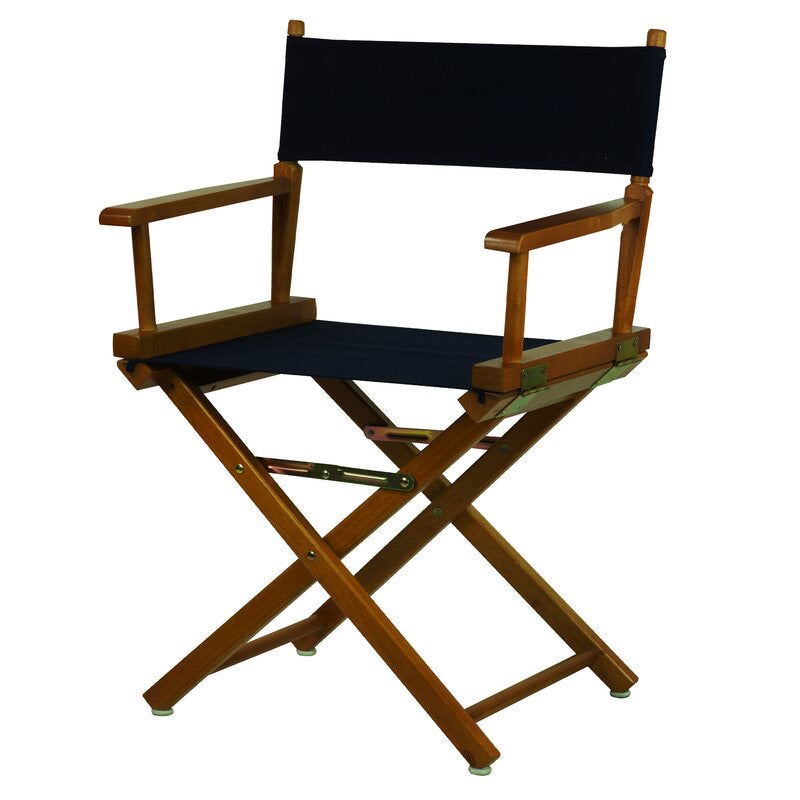 Casual Home Folding Director Chair Set of 2 Navy/Honey(393-2boxes)