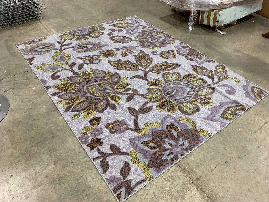 Floral Lilac/Light Blue/Green 8' x 10' Area Rug (1763)