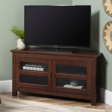 "Load image into Gallery viewer, Aurelio TV Stand for TVs up to 48"" Traditional Brown(1788RR)"