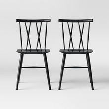 Load image into Gallery viewer, Becket Metal X Back Dining Chair Set of 2 Black(1857RR)