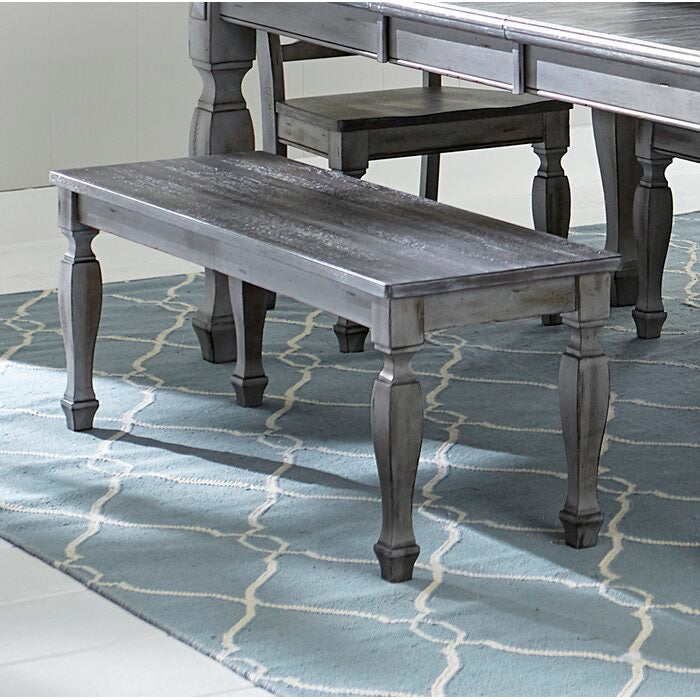 Desiree Wood Bench Antique Brown With Gray Undertones #117HW