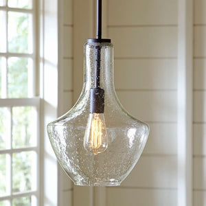 "Geoffredo 1 Light Schoolhouse Pendant 20""H Bronze(290)"