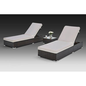 Putney Sun Lounger Set of 2 Brown AS IS(662)